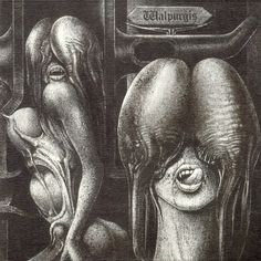 Walpurgis, The shiver 1969.Giger's first-ever album cover was done for the Swiss psychedelic band, The Shiver. Their rise to Krautrock cult stature can be tied, in part, to the album's disturbing imagery.