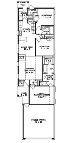 #653501 - Warm and Open House Plan for a Narrow Lot : House Plans, Floor Plans, Home Plans, Plan It at HousePlanIt.com