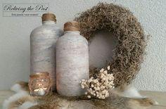 Kruiken bewerkt met Cardboard Paste Grey van Deco & Lifestyle. Prachtig stoer effect!  Www.facebook.com/relivingthepastmeubels