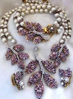 SALE Signed Miriam Haskell Purple Rhinestones by QuietBeautyCabin http://amzn.to/2svuIru