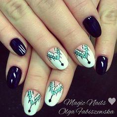 #nailart #aztecnails #aztec #blunails #darknails #instanails #photooftheday #jewellery #colours #uñasdecoradas #unas #mani #manicure #soakoff #paznokciehybrydowe #nails2inspire #nailporn #nailartist #stylish #nailstylist #nailswag