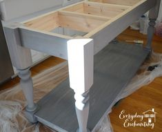 Modified kitchen island from the handbuilt home island plans do it farmhouse table center island the step by step diy kitchen island solutioingenieria Gallery