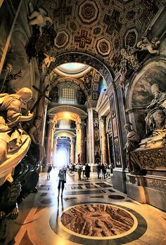 Peter's Basilica at Vatican City, Rome, Italy, province of Rome Lazio.i didn't really enjoy any of the vatican. Places Around The World, Oh The Places You'll Go, Places To Travel, Around The Worlds, Temples, Wonderful Places, Beautiful Places, Le Vatican, Voyage Europe