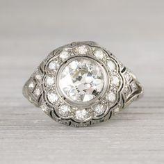 Image of 1.25 Carat Vintage Art Deco Vintage Engagement Ring