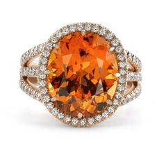 Omi Prive: Spessartite Garnet and Diamond Ring Style: RC1030-SGOV