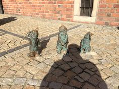 Dwarf elf all over Wroclaw town centre & other places.