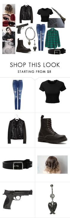 """Fem! Dean"" by call-me-gerard on Polyvore featuring IRO, LE3NO, Madewell, Yves Saint Laurent, Dr. Martens, rag & bone and Smith & Wesson"