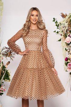 Fusta clos bufanta Ladylike Style, Baptism Dress, Color Patterns, Size Clothing, Curvy, Prom Dresses, Puffed Sleeves, Long Sleeve, Womens Fashion
