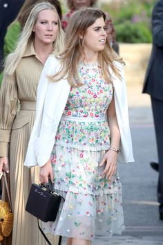d145774ad537 Princess Beatrice Wore a Bright Blue Dress While Attending Her Sister