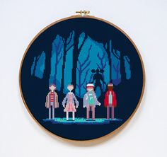 Stranger Things Group | Digital Download | Geek Cross Stitch Pattern | by Stitches of Creation, $4.50 USD