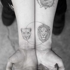 lion tattoos on wrist