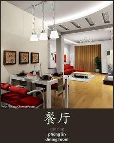 餐厅 - cāntīng - phòng ăn - dinning room