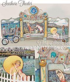 Alpha Stamps News » Guest Designer Teri Steele – Seashore Theatre