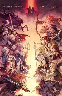 tokonatsuyasumi — Bravely Default X Eorzea Kingdom Hearts, Anime Manga, Anime Art, Travel Agency Logo, Arte Final Fantasy, Bravely Default, Octopath Traveler, Pretty Drawings, Fantasy Dragon