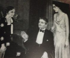 """Margaret Sullavan, Kent Smith, and Barbara O'Neal in the University Players' production of """"Holiday"""""""