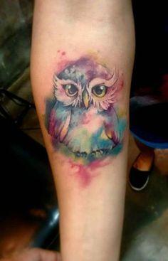Watercolor Owl Tattoo Ideas - MyBodiArt.com