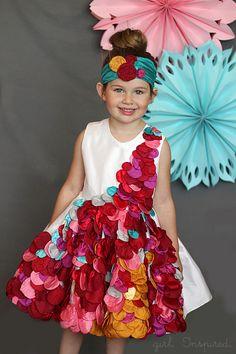 Petal Splash - Project Run and Play - Art Inspired - girl. Inspired.