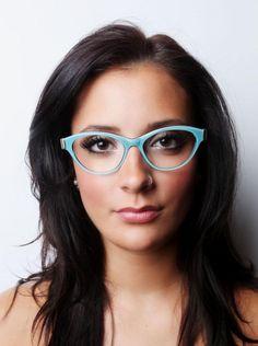 popular glasses frames w6g8  Baby blue cat eye glasses/oversized glasses/vintage eyewear  Women with  Vision