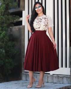 Swans Style is the top online fashion store for women. Shop sexy club dresses, jeans, shoes, bodysuits, skirts and more. Modest Outfits, Skirt Outfits, Modest Wear, Dress Skirt, Casual Dresses, Cute Outfits, Jw Fashion, Modesty Fashion, Cute Fashion