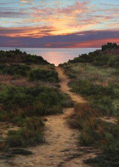 "Scott Prior, Path to the Beach, 2013, oil on panel, 14 x 10"" at William Baczek…"