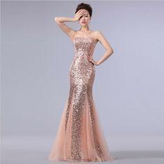 Long Evening Dress 2014 New Arrival Dress Party Evening Elegant Sequined Mermaid Sweetheart Evening Dresses Vestidos De Fiesta US $31.80