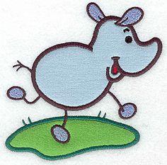 Rhino double applique | Applique Machine Embroidery Design or Pattern