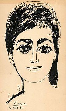Pablo Picasso - Djamila Boupacha, 1961