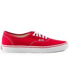 more photos 7fe28 54ce1 Vans Classics Authentic Red Mens Shoes