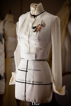 """dior: """" Conception of the Bodice meets Jacket theme in the Dior couture…"""