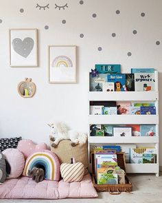Reading corner in kids room, playroom inspiration