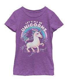 Look at this #zulilyfind! Purple Berry 'Let's All Be Unicorns' Tee - Toddler & Girls #zulilyfinds