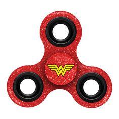 Wonder Woman Justice League Superhero Diztracto Spinnerz Fidget Three Way Hand Spinner