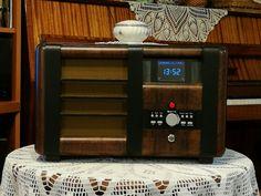 Retro internetradio Orion 033B old radio box, New Internetradio board