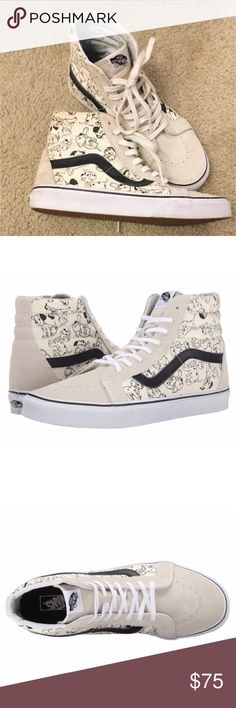 Like new DISNEY Dalmatian Hi top VANS Like new worn a few times Kith NYC Dalmatian skate Hi top VANS hard to find limited edition size 7.5 in womans white and black old school style perfect for any fan PRICE FIRM Vans Shoes Sneakers