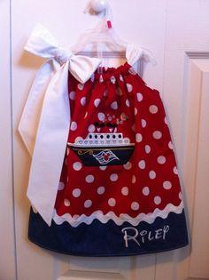 Disney Cruise Ship Pillowcase Dress by SewSweetBoutiqueLLC on Etsy