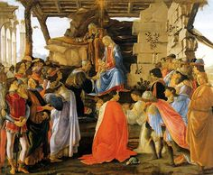 Botticelli Works of Art | Sandro Botticelli, Adoration of the Magi , circa 1475, Florence, Italy