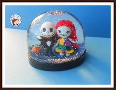 Snow Globe Nightmare before Christmas  #Jack #Sally #Snow