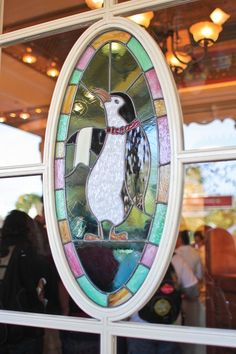 Mary Poppins stained glass window.