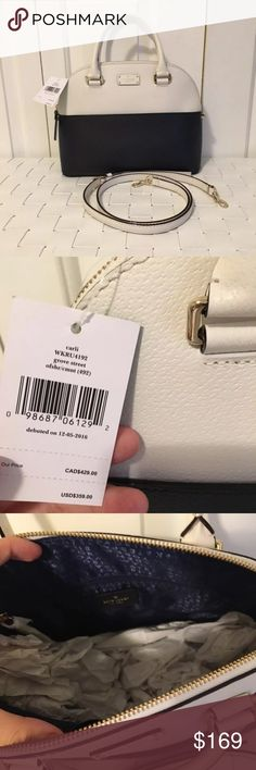 NWT Kate spade grove street carli satchel bag Brand new with tags In the color offshore and cement(navy and white) Never used Detachable Crossbody strap kate spade Bags Satchels