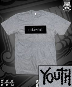 CITIZEN YOUTH TEE ON HEATHER GREY $14.00