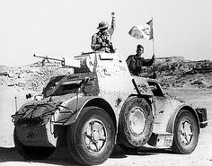 Autoblinda 41 (AB 41) leading an attack on English positions in Libya.