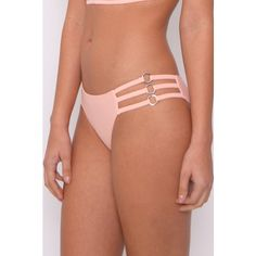 Rare Pink Caged Bikini Bottoms ($5.23) ❤ liked on Polyvore featuring swimwear, bikinis, bikini bottoms, pink swimwear, silver bikini, bikini bottom swimwear, rare london and pink bikini