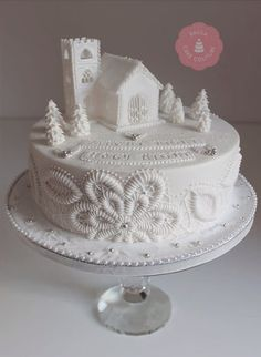 Silent night, Holy Night - cake by Paulacakecouture