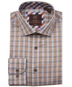 Viyella Da Uomo Red Gingham Check camicia in cotone