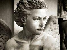 Cemetery Statues, Cemetery Art, Angel Statues, Roman Sculpture, Sculpture Art, Sad Angel, Concrete Art, Human Condition, Rodin