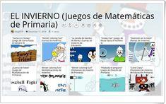 """""""11 juegos de Matemáticas de INVIERNO de Primaria"""" Online Gratis, Map, Seasons Of The Year, Math Games, Vocabulary, Learning, Location Map, Maps"""