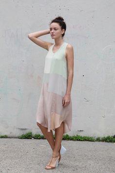 Beautiful Dreamers- subtle colourblocked dress