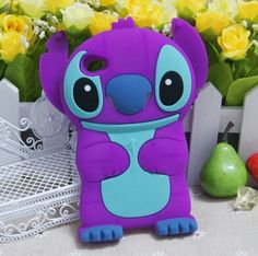 Purple 3D Disney Cuites Stereoscopic Stitch iPod 4 Cases Cover for iPod Touch 4 / 4th / 4G / itouch Gen Generation - iPod touch 4 Cases - iPod Cases