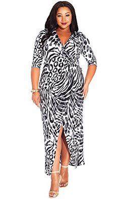IGIGI Women s Plus Size Yasmine Dress in Concrete Cheetah 12 at Amazon Women s  Clothing store  09348a499