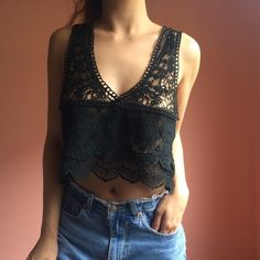 Nasty Gal Crochet Crop Tank Heat things up in this breezy crochet crop tank from Nasty Gal. Features a deep scoop, low arm holes, loose cut, tiered crochet body and contrast crochet at bust and straps. Wear with denim and a little bikini top. 100% cotton. Fits true to size Small. No returns allowed. Please ask all questions before buying. IG: [at] jacqueline.pak #nastygal Nasty Gal Tops Crop Tops